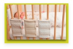new invention ideas: bumpsters cot bars padding
