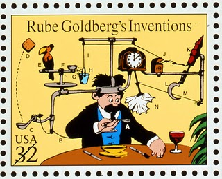 Rube goldberg stamp